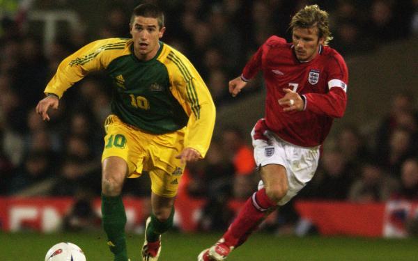 harry Kewell David Beckham Australia Socceroos England 2003