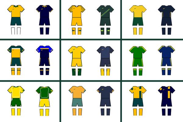 Socceroos jerseys grid