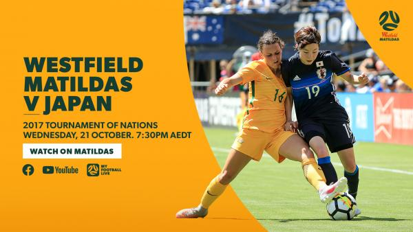 Matildas v Japan 2017 Tournament of Nations