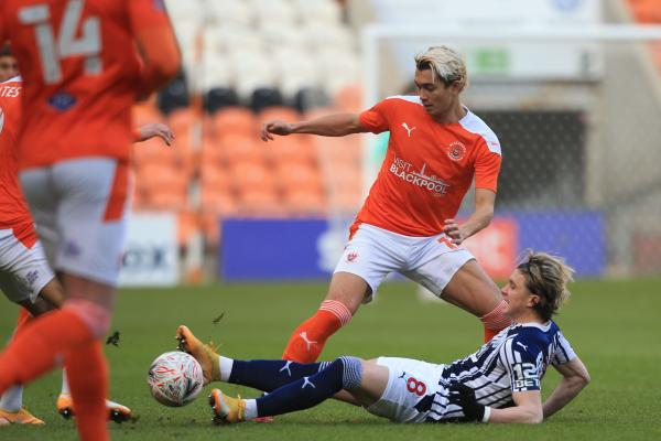 Kenny Dougall Blackpool vs West Brom