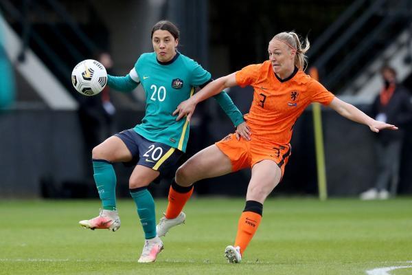 Sam Kerr Australia v Netherlands