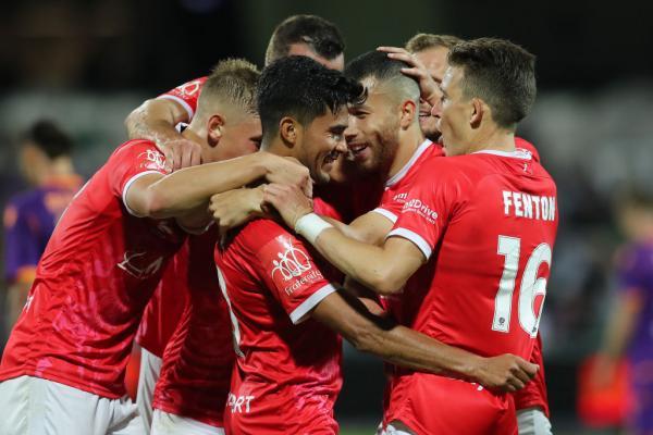 Wellington celebrate a goal