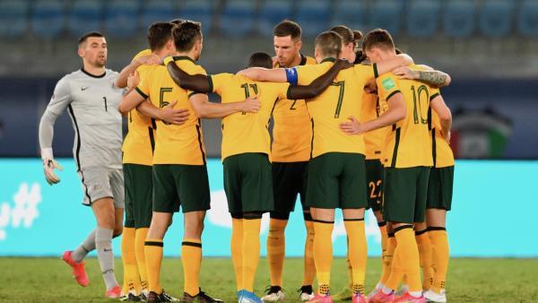 Socceroos Huddle