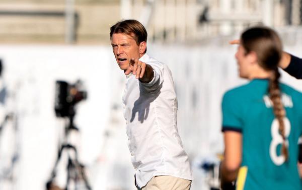 Tony Gustavsson on the sideline against Denmark