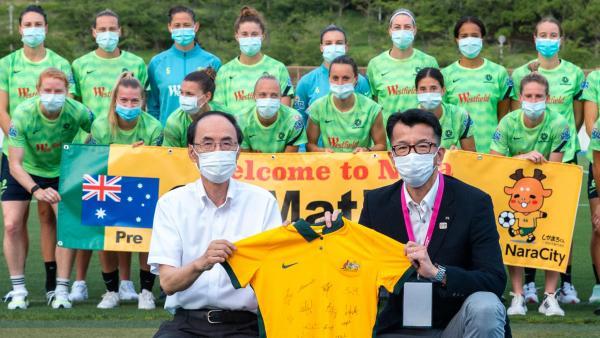 Arrival in Nara: Matildas welcomed in Japan