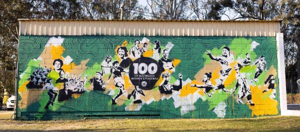 100 Years of Women's Football Mural