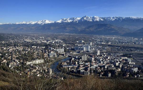 The city skyline of Grenoble, where Australia plays a Group C game at Women's World Cup 2019