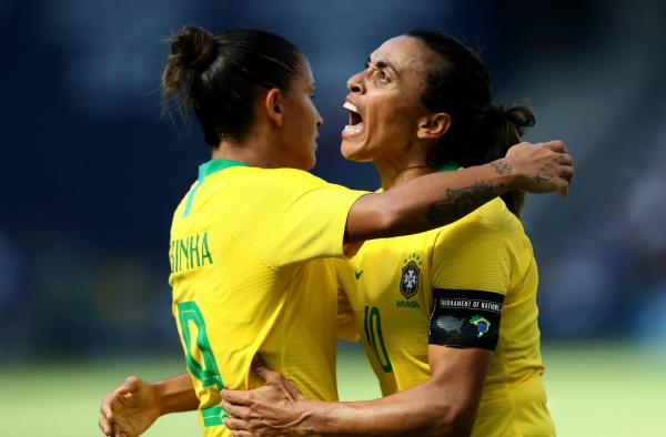 Brazil pair Debinha and Marta