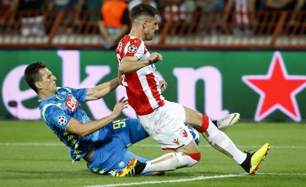 Degenek makes a challenge against Napoli