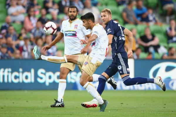 Johnny Koutroumbis, Newcastle Jets v Melbourne Victory, Hyundai A-League 2018/19 Season