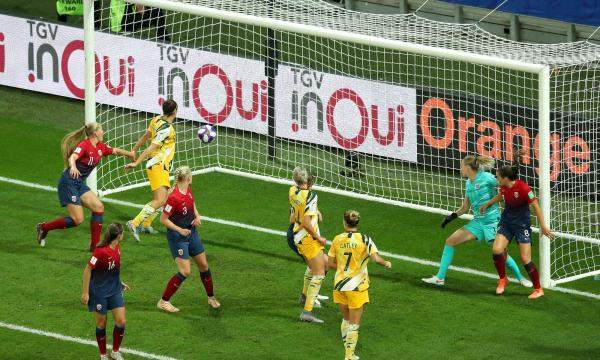 Matildas goal Norway Kellond-Knight