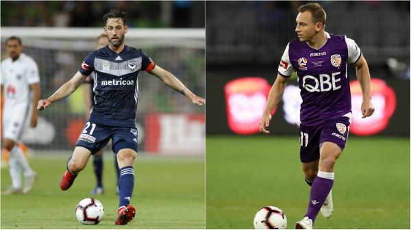 Carl Valeri and Brendon Santalab sign for Dandenong City
