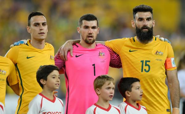Trent Sainsbury Mat Ryan Mile Jedinak