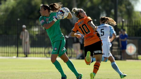Westfield Matildas keeper Lydia Williams had the best save percentage in the W-League last season.