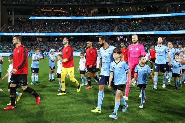 The players walk out at the SCG earlier this season.