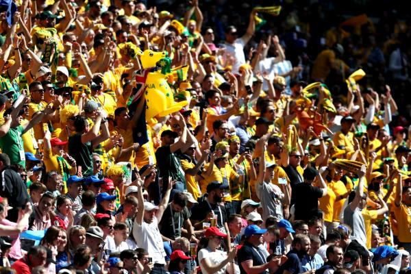 It was a sea of Green and Gold against France.