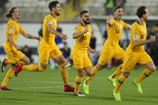 Socceroos celebrate shootout win