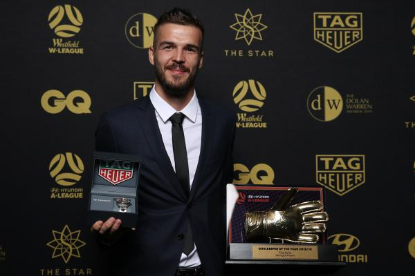 Wellington Phoenix's Filip Kurto took out the Goalkeeper of the Year Award