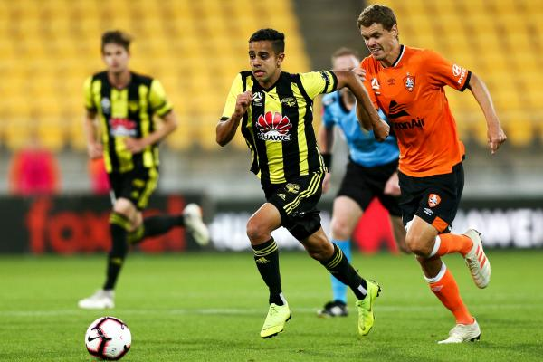 Sarpreet Singh in action against Brisbane Roar