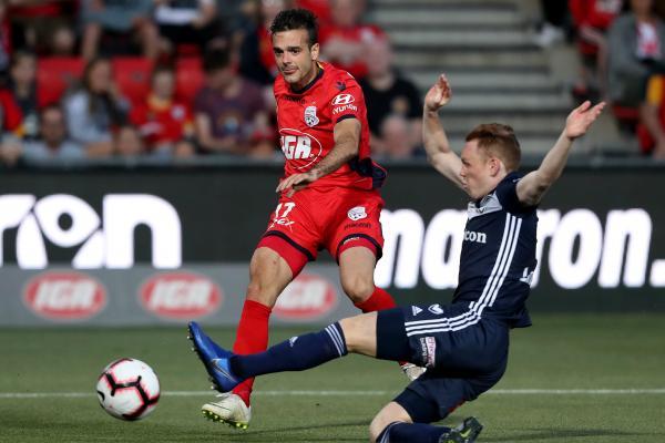 Nikola Mileusnic against Melbourne Victory