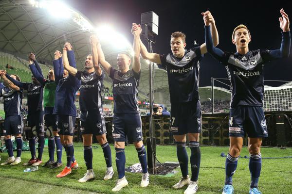 Melbourne Victory celebrate