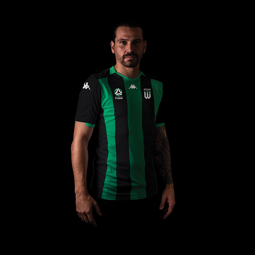 Ersan Gulum in United's inaugural Hyundai A-League home strip